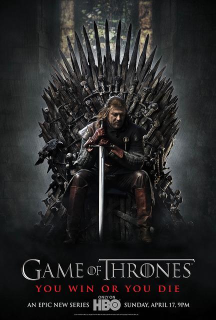 Ned Stark on Iron throne