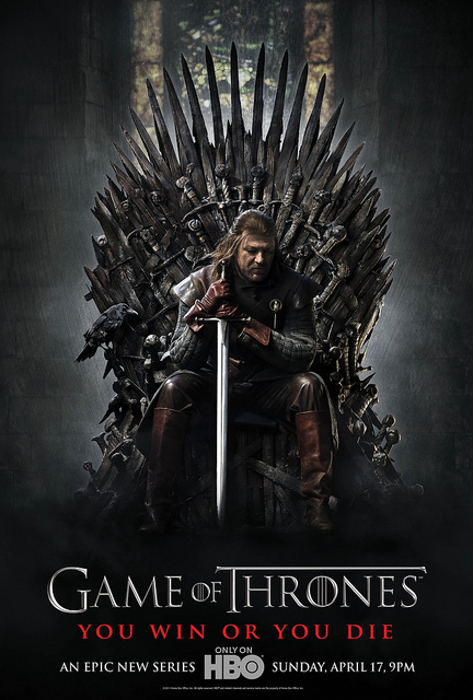 Ned Stark on Iron throne